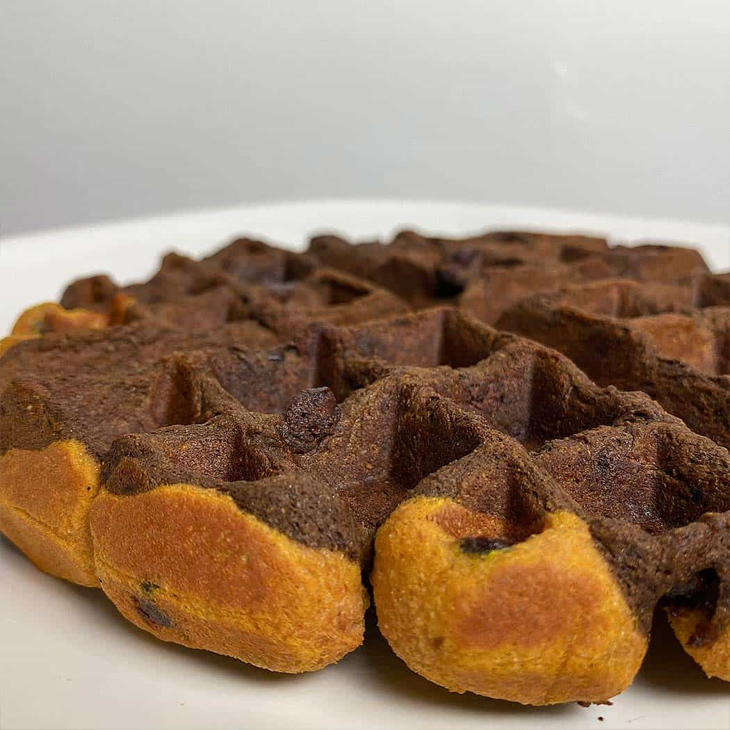 Protein Brookie Waffles