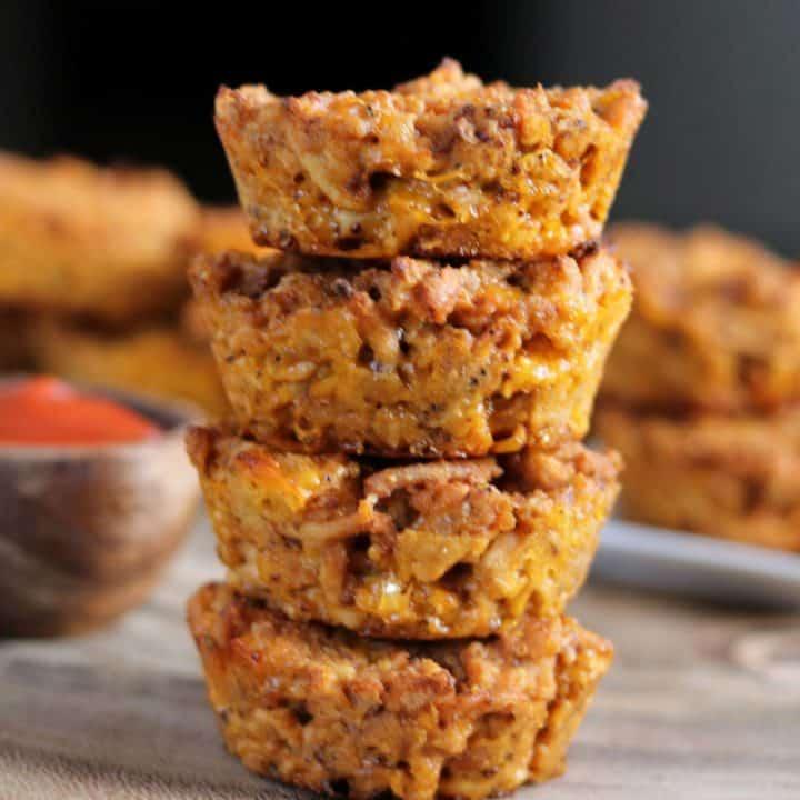 Cheeseburger Turkey Meatloaf Muffins