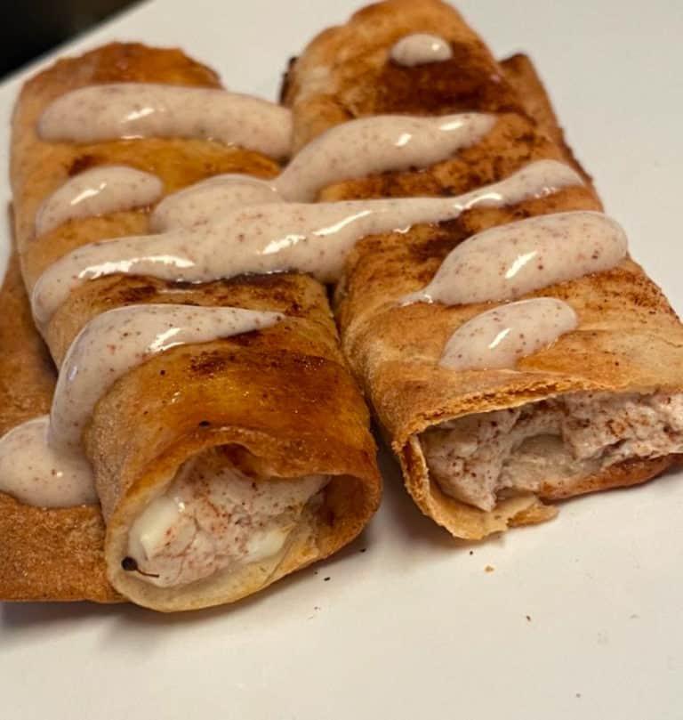 Healthy air fryer churro wraps