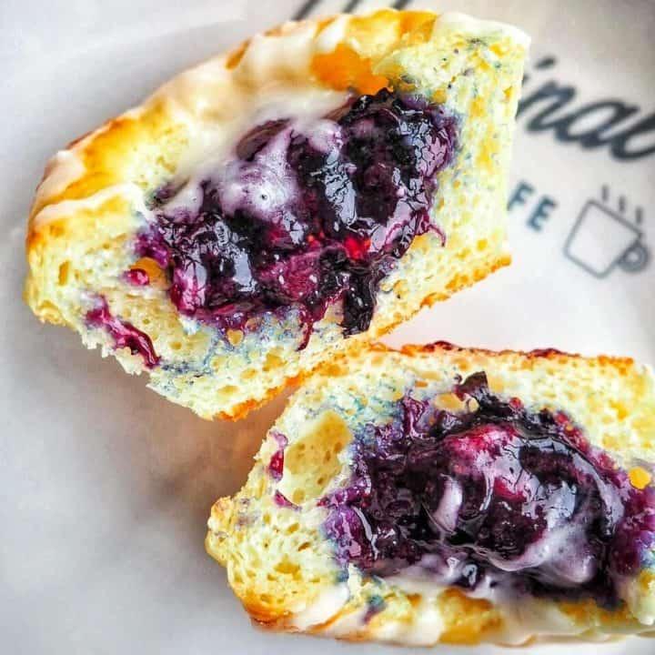 Jammin' Blueberry Protein Cupcakes